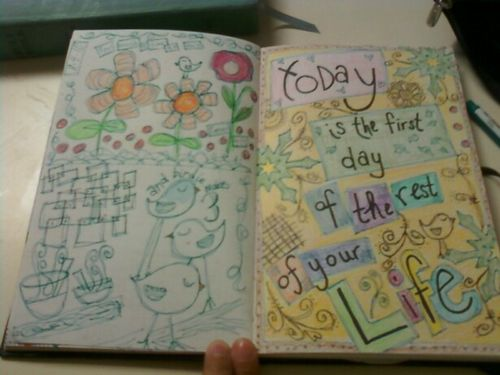 Completed journal page